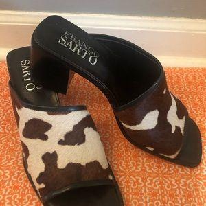 Franco Sarto Leather & Pony Hair Slides